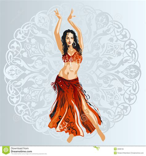 picture illustration belly dancer royalty free stock photo image 2638725