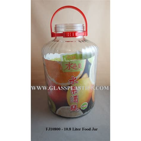 Porta Jar 10 Liter glass food jar 10 8 liter glass plastic packaging sdn bhd