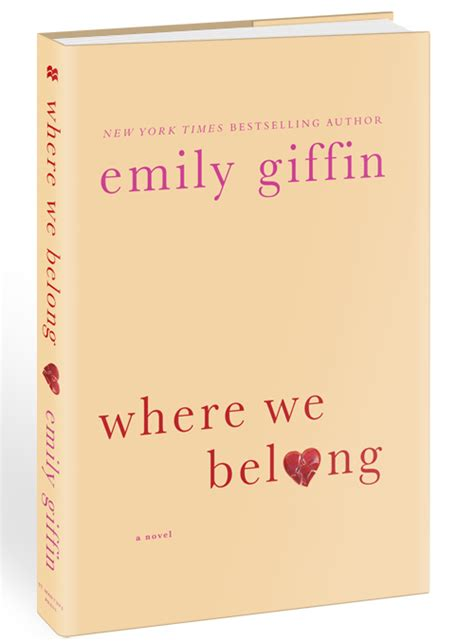 where we belong a novel giveaway win a trip to palm win emily giffin s