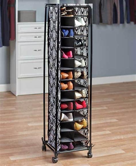 bedroom shoe storage rolling shoe organizer storage holds 28 pairs damask print