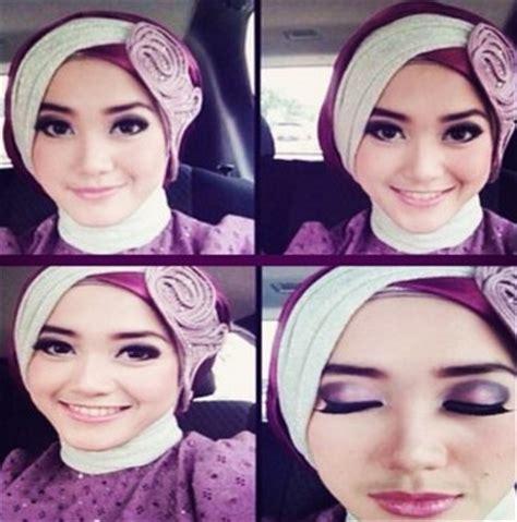 tutorial hijab syar i 2 warna kumpulan model hijab untuk kebaya yang cantik