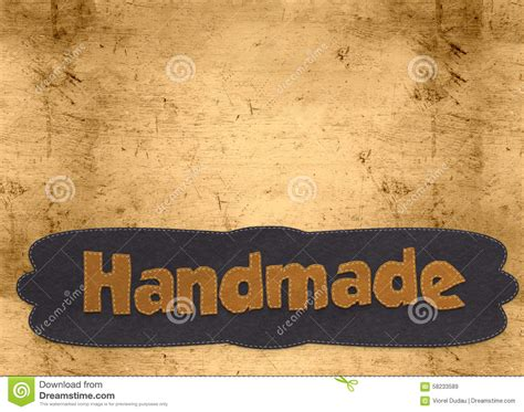 Handmade Word - handmade word stock illustration image 58233589