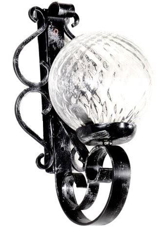 applique da esterno in ferro battuto applique in ferro battuto lavorato a mano sfera in vetro