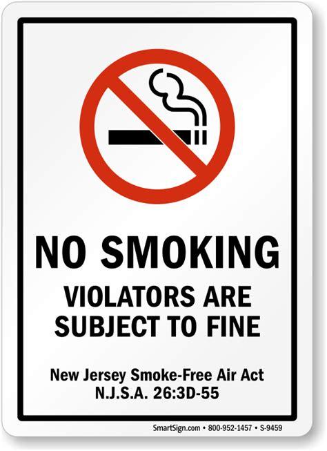no smoking sign function new jersey no smoking signs no smoking signs by state