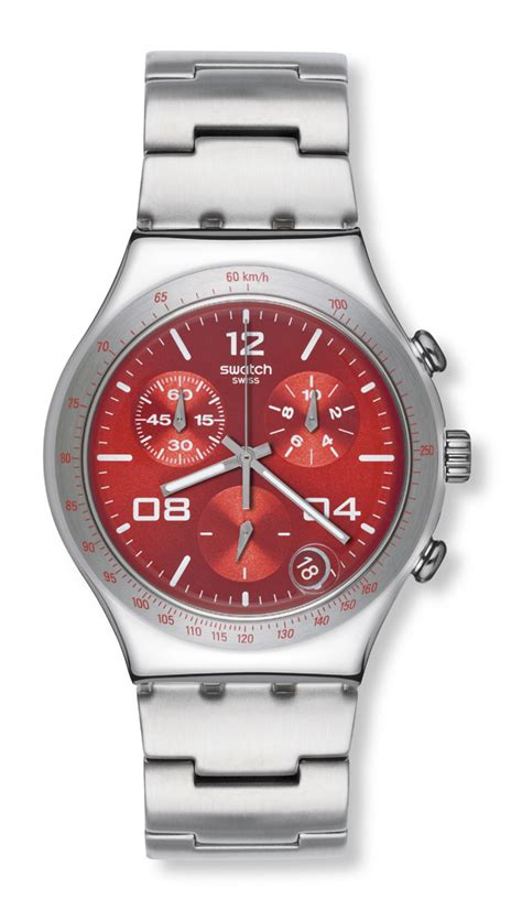 red swatch swatch watches chrono swatch blustery red watch ycs563g