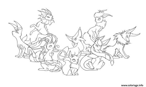 pokemon coloring pages eevee evolutions glaceon coloriage pokemon eevee evolutions mega dessin