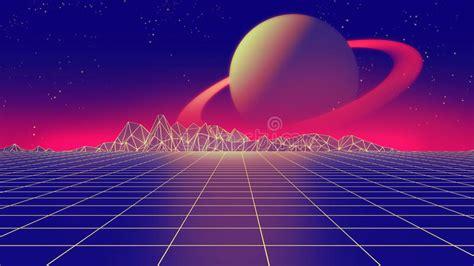 Imagenes Retro Futuristas | ejemplo futurista retro del estilo 3d de los a 241 os 80 del