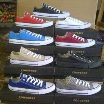 Sepatu Converse Classic Low Original Indo White Sepatu Unisex converse on