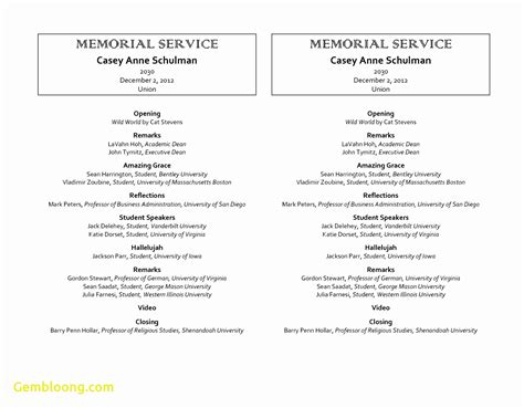 order of service template word free funeral program template microsoft word