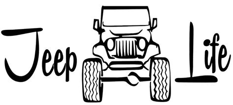 Jeep Life 4x4 Logo Funny Tj Cj Wrangler Offroad Car Decal