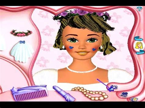 barbie hair cutting game barbie makeover game youtube barbie magic hair styler pc game review youtube
