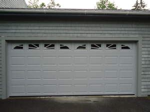 new 16x7 garage door installed in castine maine by