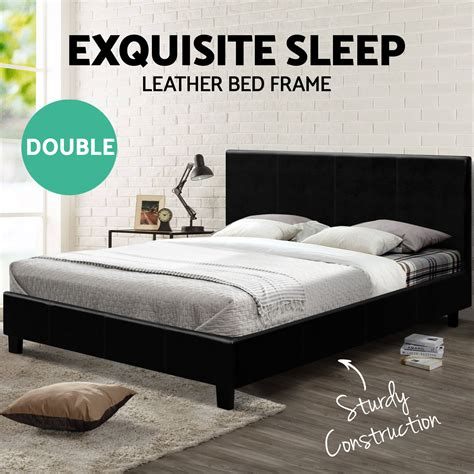 double bed mattress size double size bed frame neo pu leather headboard wooden