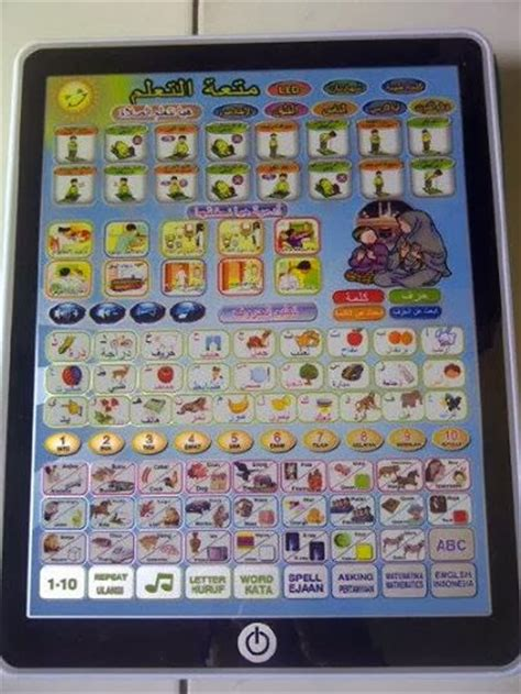 Mainan Anak Mainan Edukatif Playpad Arab 3 Bahasa With Led buku bantal buku bantal murah bukubantal bayi mainan