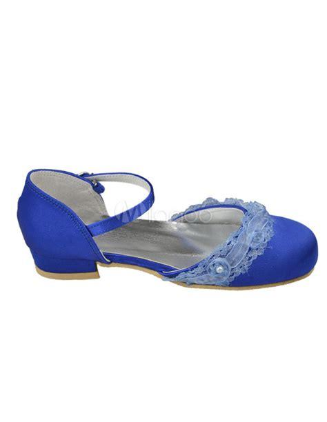 Sandal Trendy Blue Flowerrabbit blue beading toe satin trendy flower shoes milanoo