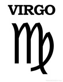 printable virgo zodiac symbol astrological signs and