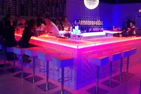 portable bar pub led illuminated glowing home indoor