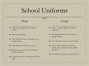 Pros And Cons Of Wearing School Uniforms Essay pros and cons of school a child dresses and children