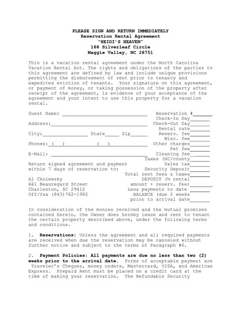 House Lease Agreement Template House Rental Agreement Contract In North Carolina Studio Rental Agreement Template