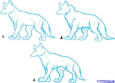 anime wolf drawings easy how to draw a anime wolf pencil drawing