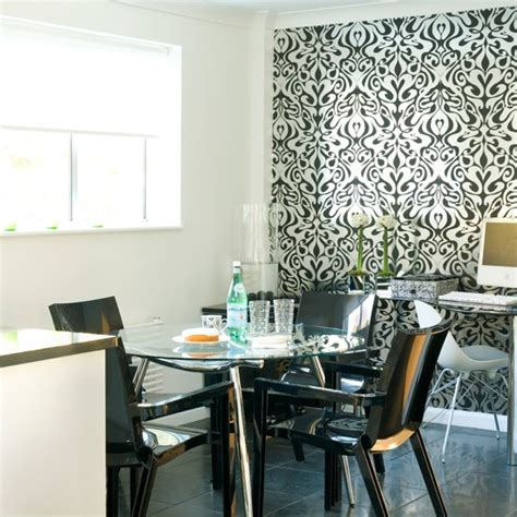 wallpaper for black and white kitchen geometric kitchen splashback black and white kitchens
