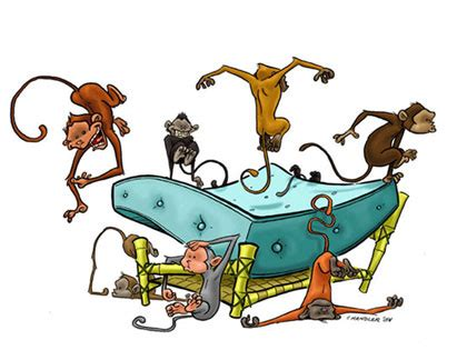 monkey jumping on the bed monkeys jumping on the bed by andrewchandler80 on deviantart
