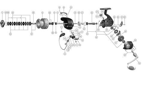 okuma reel parts diagram zebco 33 reel parts diagram zebco free engine image for