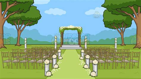 Wedding Ceremony Background by An Outdoor Wedding Ceremony Venue Background