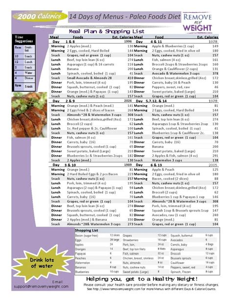protein 2000 calorie diet 2000 calorie diet archives menu plan for weight loss