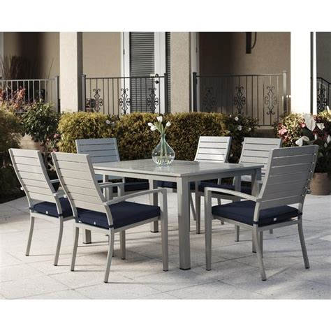 cosco outdoor living 7 blue veil brushed aluminum