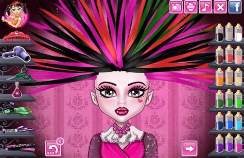 hairstyles monster high games monster high real haircuts girls game