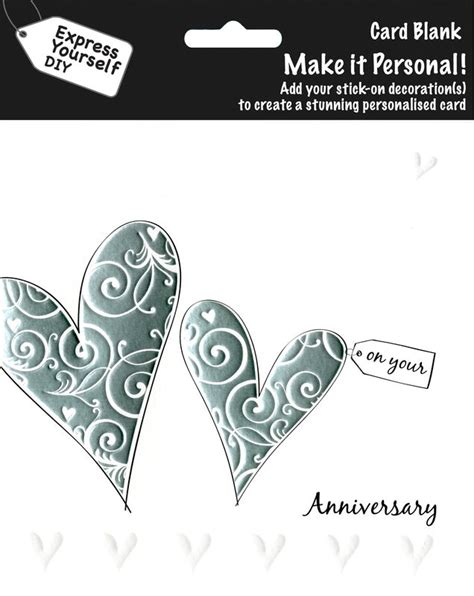 make personal cards make it personal blank card 2 silver hearts on your