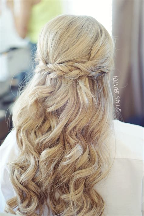 Half Up Wedding Hairstyles by Half Up Half Bridal Hair Wedding Hair