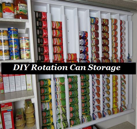Can Rotation Shelf by Diy Rotation Can Storage The Prepared Page