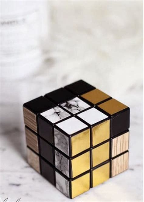 Rubik Infinity Cube Black Or White diy modern rubic empty room cubes marbles and modern