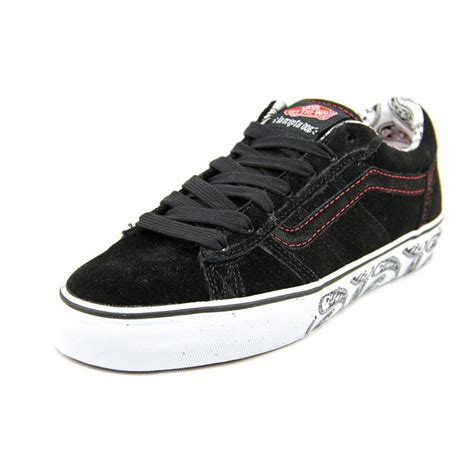 mens skate shoes vans vans la cripta dos mens suede black skate shoes athletic