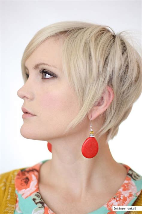hairstyles to show your errings short hairstyles 16 red drop earrings from whippycake com whippycake