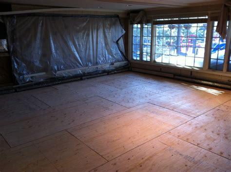 2 215 4 sleepers shimmed concrete slab go green floors