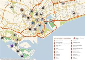 tourist attractions map about singapore city mrt tourism map and holidays