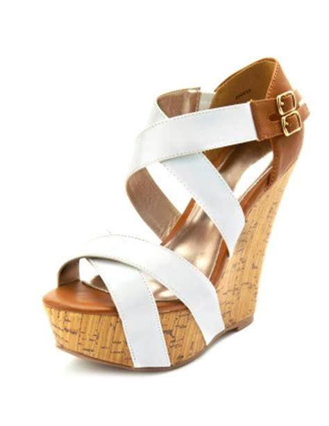 And Carry Wardrobes Cork by White And Brown Cork Wedges But Russe