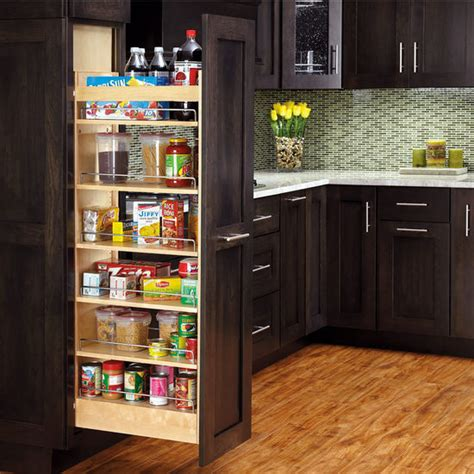 pull out shelving for kitchen cabinets rev a shelf tall wood pull out pantry with adjustable