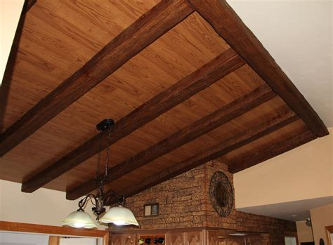 wood ceiling beams dining room design with beams faux wood workshop
