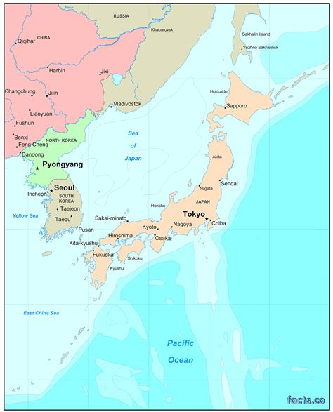 physical map of japan japan map blank political japan map with cities