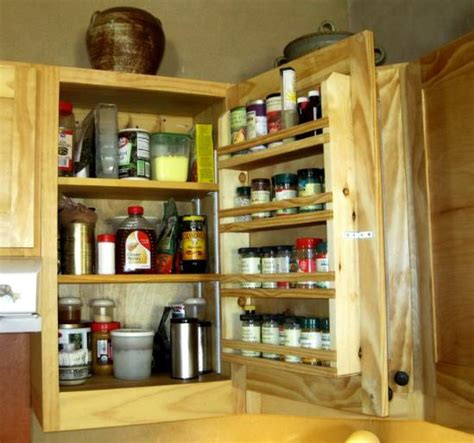 Corner Cabinet Spice Rack Custom Touch For Do It Yourself Cabinets A Built In Spice