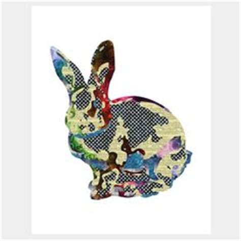 Patchwork Rabbit Pattern - crafts bunny board book on pattern paper