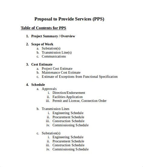 sample service proposal 9 example format