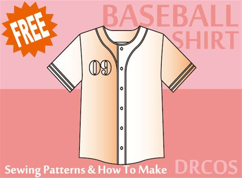 baseball jersey pattern sew baseballshirt sewing patterns drcos patterns how to make