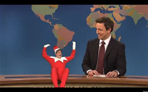 Snl On The Shelf by On The Shelf Chats With Seth Meyers In Skit Cut From