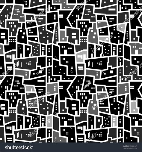 pattern urban background abstract seamless texture night monochrome urban stock