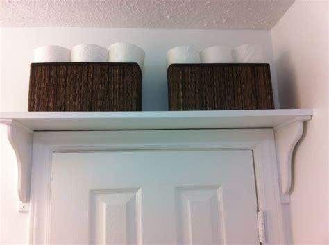 shelf over bathroom door shelf above bathroom door for extra storage i used ikea